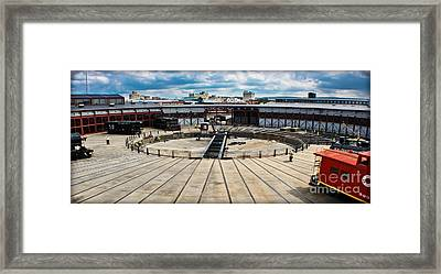 Steamtown Rondhouse Framed Print