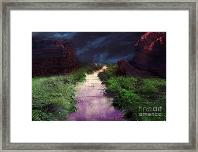 Steamy Creek Framed Print by Gunter Nezhoda
