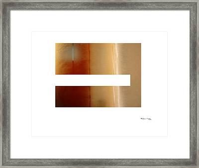 Steamy Mirror Framed Print