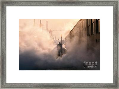 Steamy Station Framed Print by Rod McLean