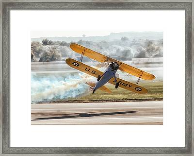 Stearman Model 75 Biplane Framed Print