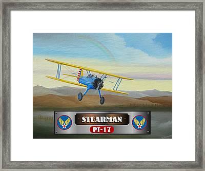 Stearman Pt-17 Framed Print