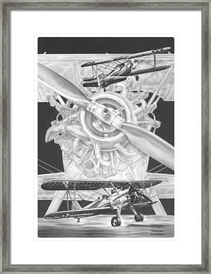 Stearman - Vintage Biplane Aviation Art Framed Print