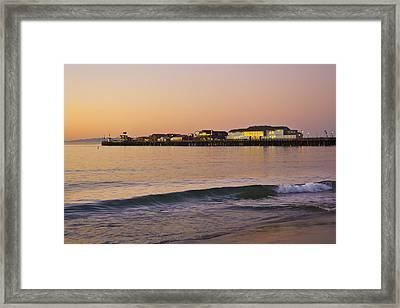 Stearns Wharf At Dawn Framed Print