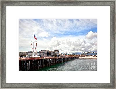 Stearns Wharf Santa Barbara California Framed Print by Artist and Photographer Laura Wrede