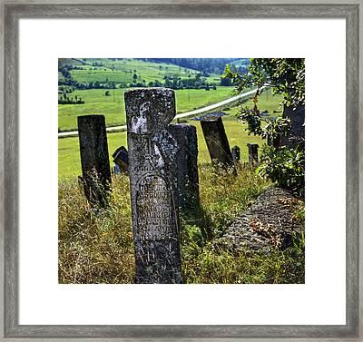Stecci. Medieval Tombstones. Serbia Framed Print by Juan Carlos Ferro Duque