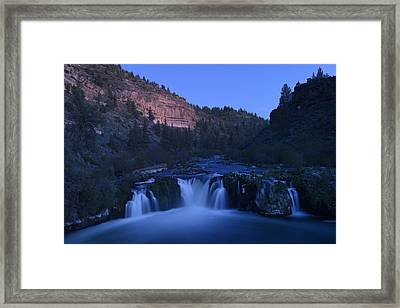 Steehead Falls Framed Print by Christian Heeb