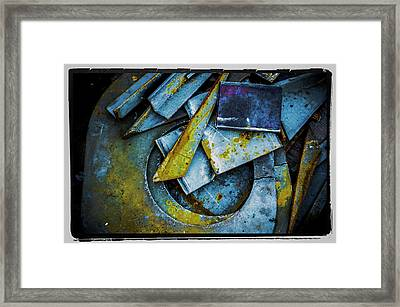 Framed Print featuring the photograph Steel Abstract Six by Craig Perry-Ollila