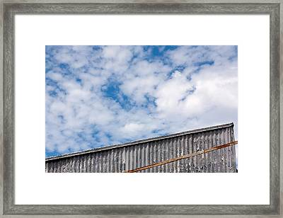 Steel And Sky Framed Print by Peter Tellone
