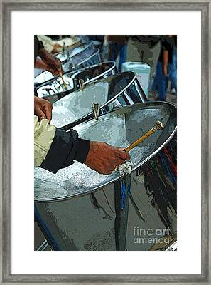 Steel Band Street Musicians Framed Print
