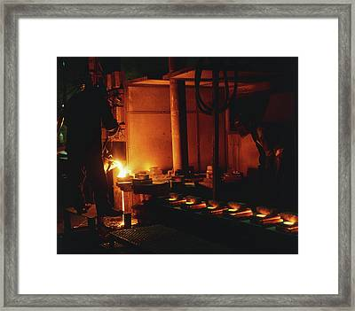 Steel Being Melted For Conversion Framed Print
