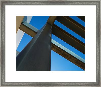 Steel Blue - Industrial Abstract Framed Print by Steven Milner