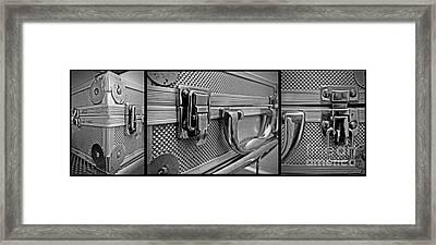 Steel Box - Triptych Framed Print by James Aiken