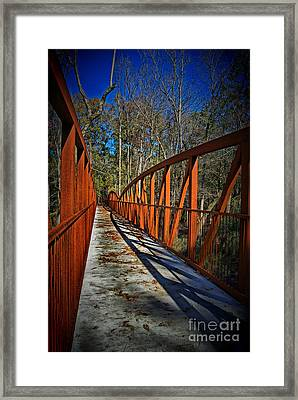 Steel Bridge Framed Print