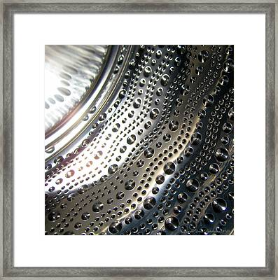 Framed Print featuring the photograph Steel Bubbles by Leena Pekkalainen