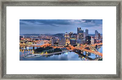 Steel City Panorama Framed Print