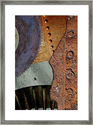 Steel Collage Framed Print