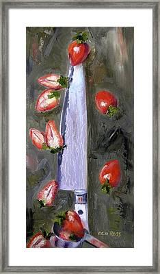 Steel Cut Berries Framed Print