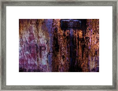 Steel Door Number One Framed Print by Bob Orsillo
