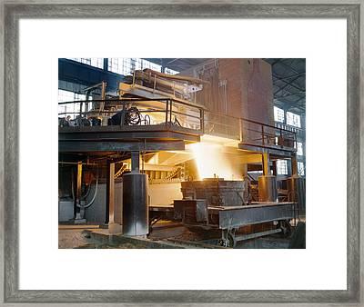 Steel Foundry, C1941 Framed Print by Granger