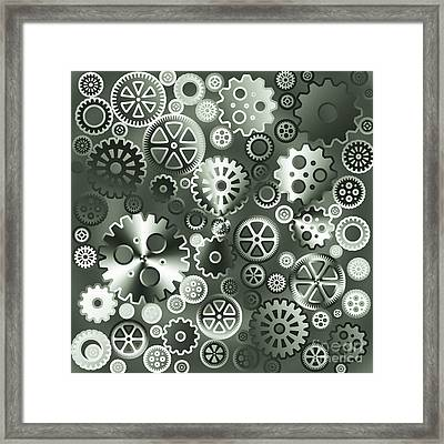 Steel Gears Framed Print by Gaspar Avila