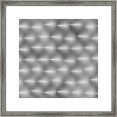 Steel Hand-brushed Metal Aluminum Texture 1 Framed Print by REDlightIMAGE
