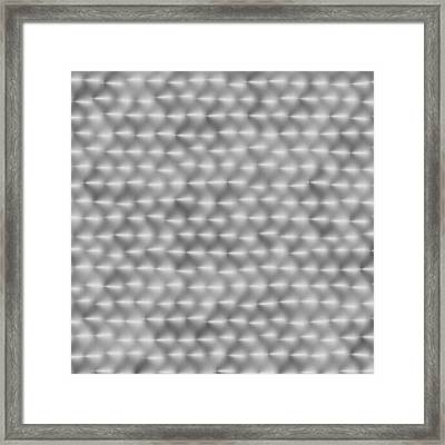 Steel Hand-brushed Metal Aluminum Texture 2 Framed Print by REDlightIMAGE