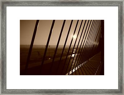 Steel Horizon Framed Print by Miguel Winterpacht
