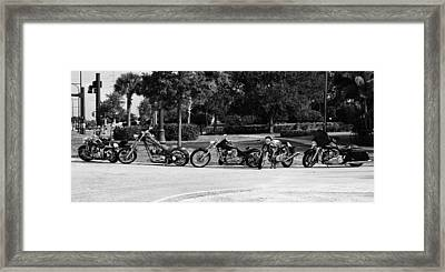 Steel Horses Framed Print by Laura Fasulo