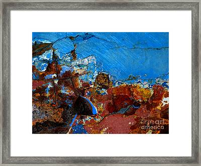 Steel Hull Abstract Framed Print