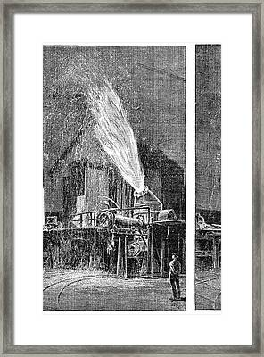 Steel Industry Furnace Framed Print by Science Photo Library