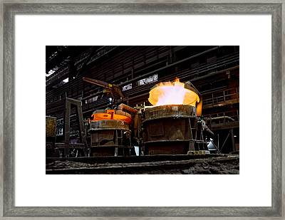 Steel Industry In Smederevo. Serbia Framed Print