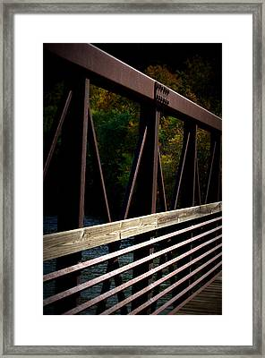 Framed Print featuring the photograph Steel Lines by Cathy Shiflett