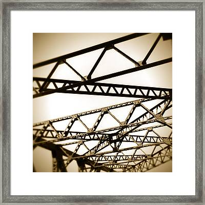 Steel Lines Framed Print by Timothy Bischoff