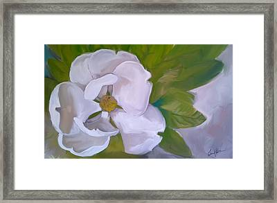 Steel Magnolia Framed Print