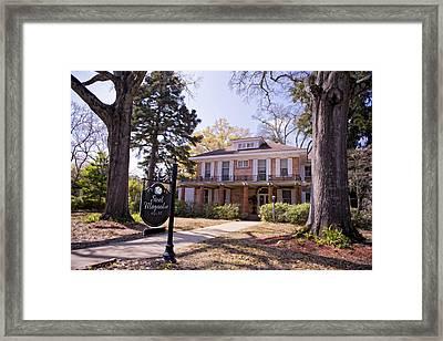 Steel Magnolias House Framed Print by Bonnie Barry