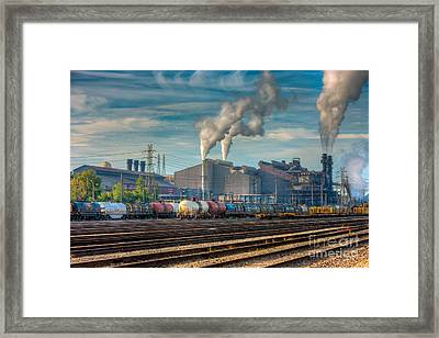 Steel Mill And Freight Yard IIi Framed Print