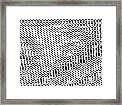 Steel Net  Framed Print