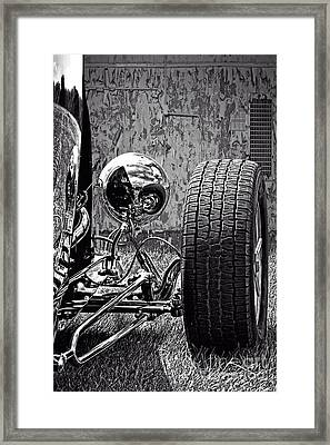 Steel On Wheels Framed Print