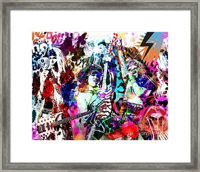 Steel Panther - Original Painting Art Print Framed Print