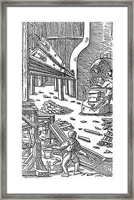 Steel Production Framed Print
