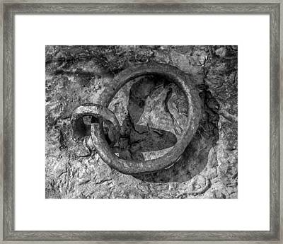 Steel Rings Framed Print by James Barber