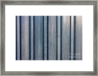 Steel Sheet Piling Wall Framed Print