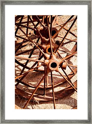 Steel Spokes Framed Print by Lawrence Burry