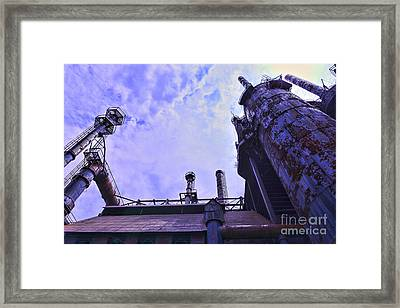 Steel Stacks Perspective Framed Print by Paul Ward