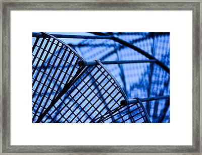 Steel Stairs  Closeup Framed Print