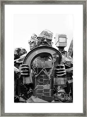 Steel Vs Steel Framed Print by Rick Kuperberg Sr