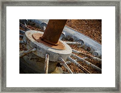 Framed Print featuring the photograph Steel Wheel by Beverly Parks