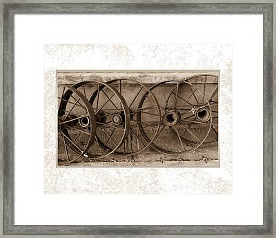 Steel Wheels Framed Print
