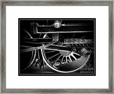 Steel Wheels - Steam Train Drivers Framed Print by Edward Fielding